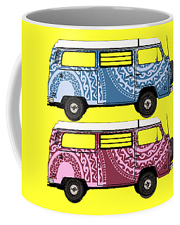 Two Vw Vans Coffee Mug