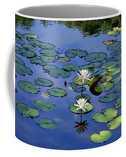 Two Water Lilies Coffee Mug by Marcia Lee Jones