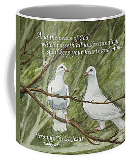 Two White Doves Philippians Coffee Mug