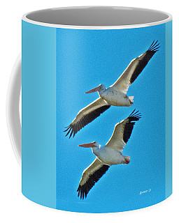 Two White Pelicans Coffee Mug