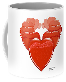 Coffee Mug featuring the digital art Two Hearts Become One by Thomas J Herring