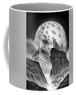 Two Wolves  Coffee Mug
