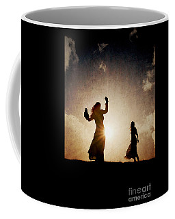 Two Women Dancing At Sunset Coffee Mug