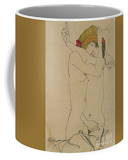 Two Women Embracing, 1913  Coffee Mug