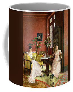 Two Women Reading In An Interior  Coffee Mug