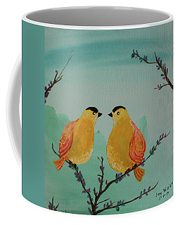 Two Yellow Chickadees Coffee Mug