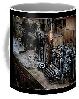 Typewriter Manifesto  Coffee Mug