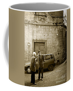 Typical Italian Street Scene In Sepia Coffee Mug