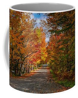 Typical Vermont Dirve - Fall Foliage Coffee Mug