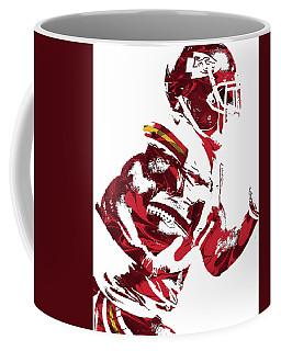 Coffee Mug featuring the mixed media Tyreek Hill Kansas City Chiefs Pixel Art 1 by Joe Hamilton