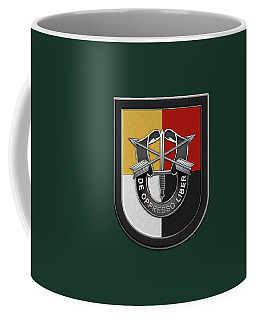 U. S.  Army 3rd Special Forces Group - 3  S F G  Beret Flash Over Green Beret Felt Coffee Mug