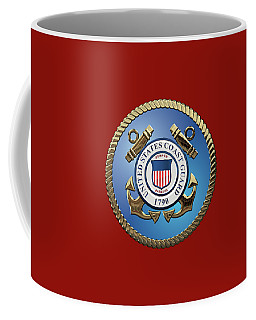 U. S. Coast Guard - U S C G Emblem Coffee Mug