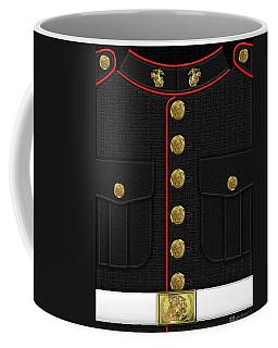 U S M C Dress Uniform Coffee Mug by Serge Averbukh