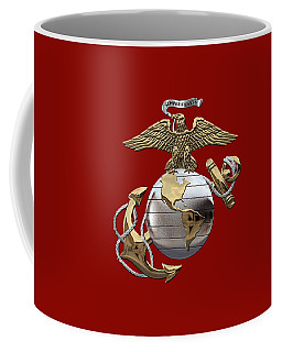 U. S.  Marine Corps - U S M C Eagle Globe And Anchor Over Corps Flag Coffee Mug