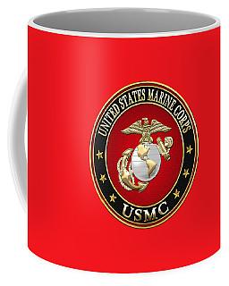 U. S. Marine Corps - U S M C Emblem Special Edition Coffee Mug by Serge Averbukh