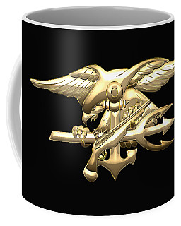 U. S. Navy S E A Ls Emblem On Black Velvet Coffee Mug