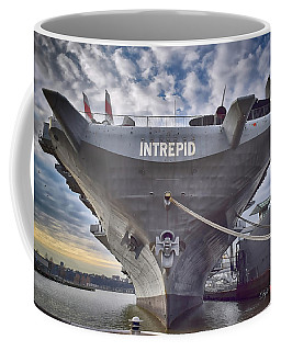 U S S   Intrepid's Bow  Coffee Mug