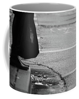 Coffee Mug featuring the photograph U Stopped Me On My Tracks  by Empty Wall