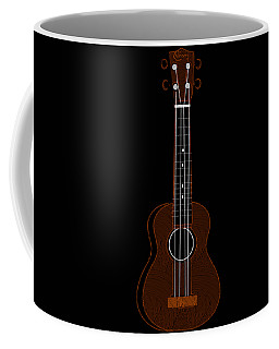Ukulele Pop Art Deco Swing Coffee Mug