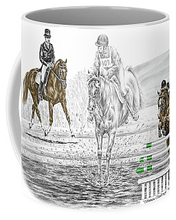 Ultimate Challenge - Horse Eventing Print Color Tinted Coffee Mug