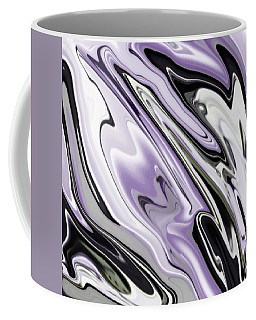 Ultra Violet Silver And Lilac Abstract Marble Vector Coffee Mug