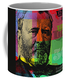 Coffee Mug featuring the digital art Ulysses S. Grant - $50 Bill by Jean luc Comperat