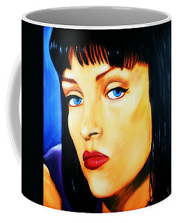 Uma Thurman In Pulp Fiction Coffee Mug
