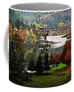Umpqua Bridge In The Fall Coffee Mug by Katie Wing Vigil