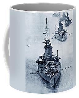 Hms Nelson And Hms Rodney Battleships And Battlecruisers Hms Hood Circa 1941 Coffee Mug