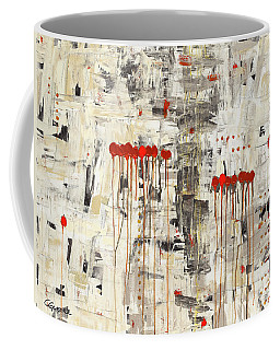 Coffee Mug featuring the painting Un Pour Tous by Carmen Guedez