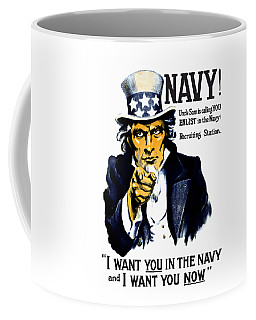 Uncle Sam Wants You In The Navy Coffee Mug