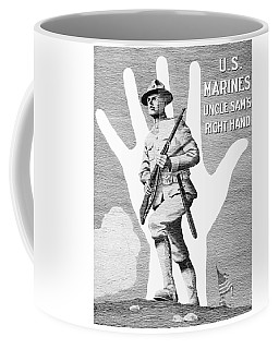 Uncle Sam's Right Hand - Us Marines Coffee Mug