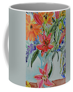 Coffee Mug featuring the painting Uncontainable by Beverley Harper Tinsley