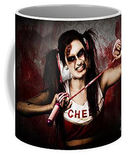 Undead Cheerleader Causing Destruction And Chaos Coffee Mug