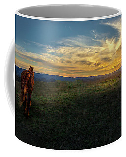 Under A Bright Evening Sky Coffee Mug
