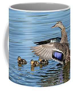 Under My Wings Coffee Mug by Fraida Gutovich