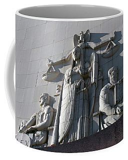 Under Scales Of Justice Coffee Mug
