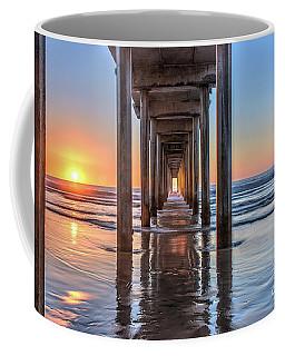Under Scripps Pier At Sunset Coffee Mug