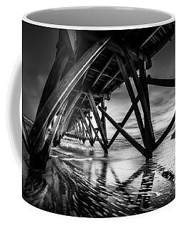 Under Sea Cabin Pier At Sunset Coffee Mug