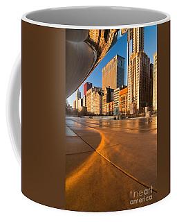 Under The Bean And Chicago Skyline At Sunrise Coffee Mug