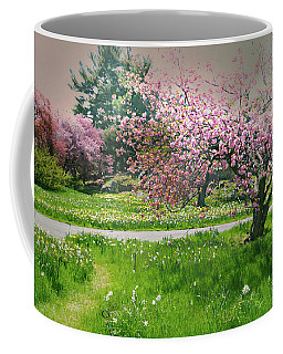 Coffee Mug featuring the photograph Under The Cherry Tree by Diana Angstadt