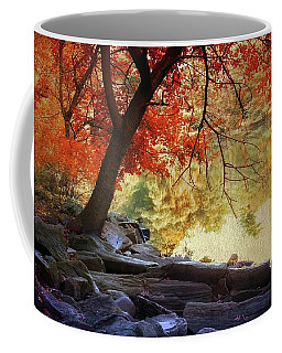 Coffee Mug featuring the photograph Under The Maple by Jessica Jenney