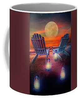 Coffee Mug featuring the photograph Under The Moon by Debra and Dave Vanderlaan
