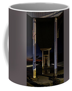 Coffee Mug featuring the photograph Under The Ocean Beach Pier At Sunste by James Sage