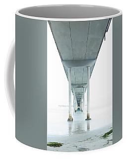 Under The Ocean Beach Pier Early Morning Coffee Mug