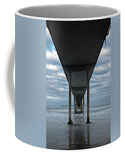 Coffee Mug featuring the photograph Under The Ocean Beach Pier San Diego Early Morning by James Sage
