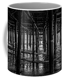 Under The Pier - Black And White Coffee Mug