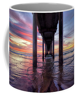 Under The Pier Sunset Coffee Mug