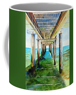 Under The Playa Paraiso Pier Coffee Mug