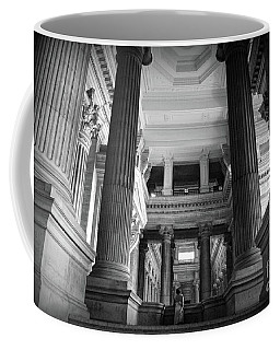 Coffee Mug featuring the photograph Under The Scaffolding Of The Palace Of Justice - Brussels by RicardMN Photography